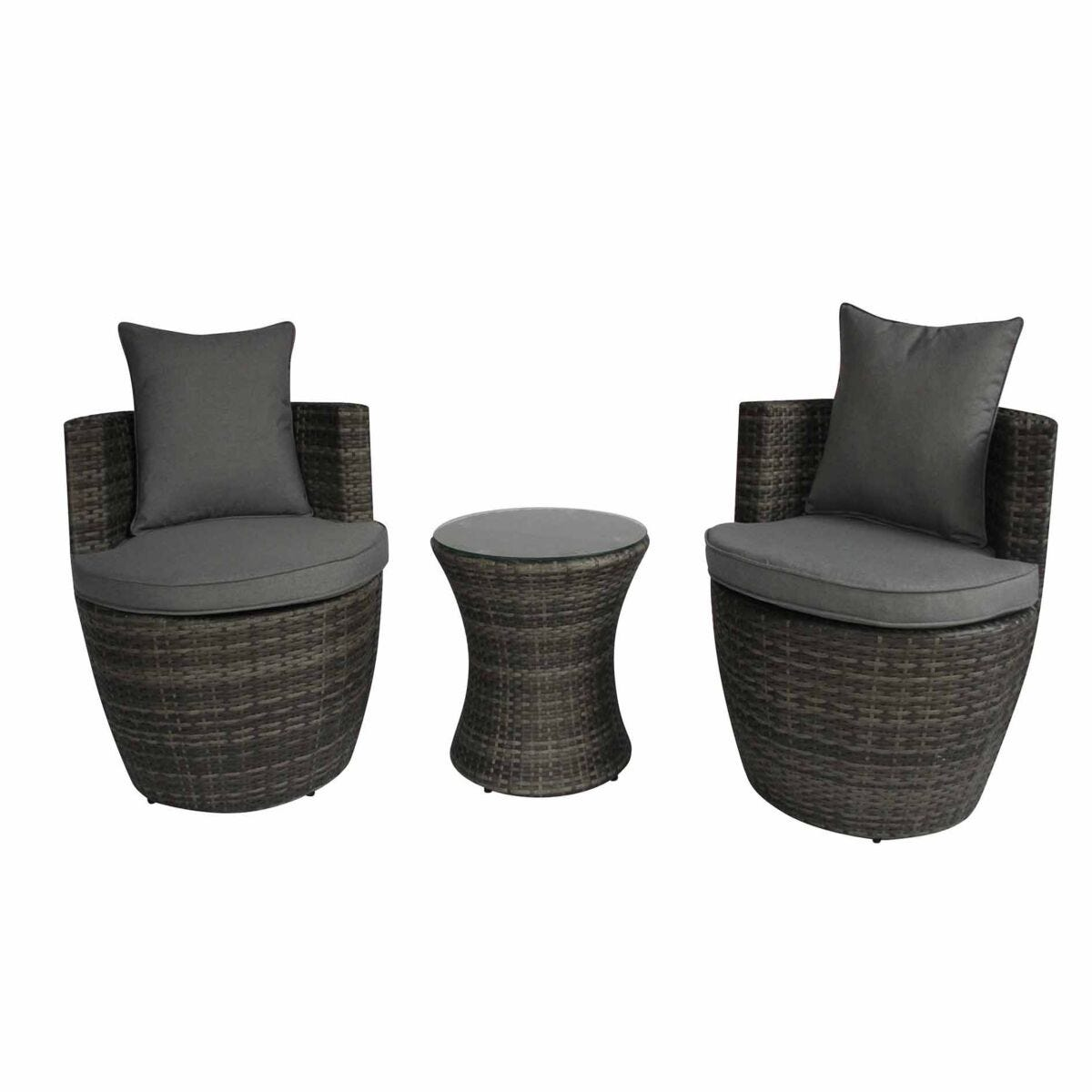 Charles Bentley Rattan Stacking 3 Piece Garden Furniture Set