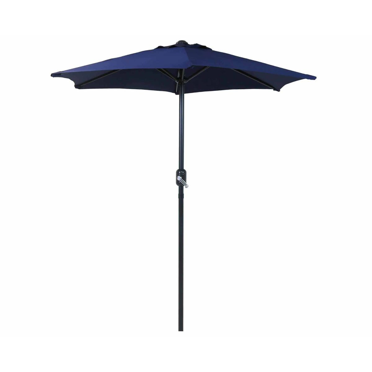 Charles Bentley 2M Market Parasol with Crank Function - Blue