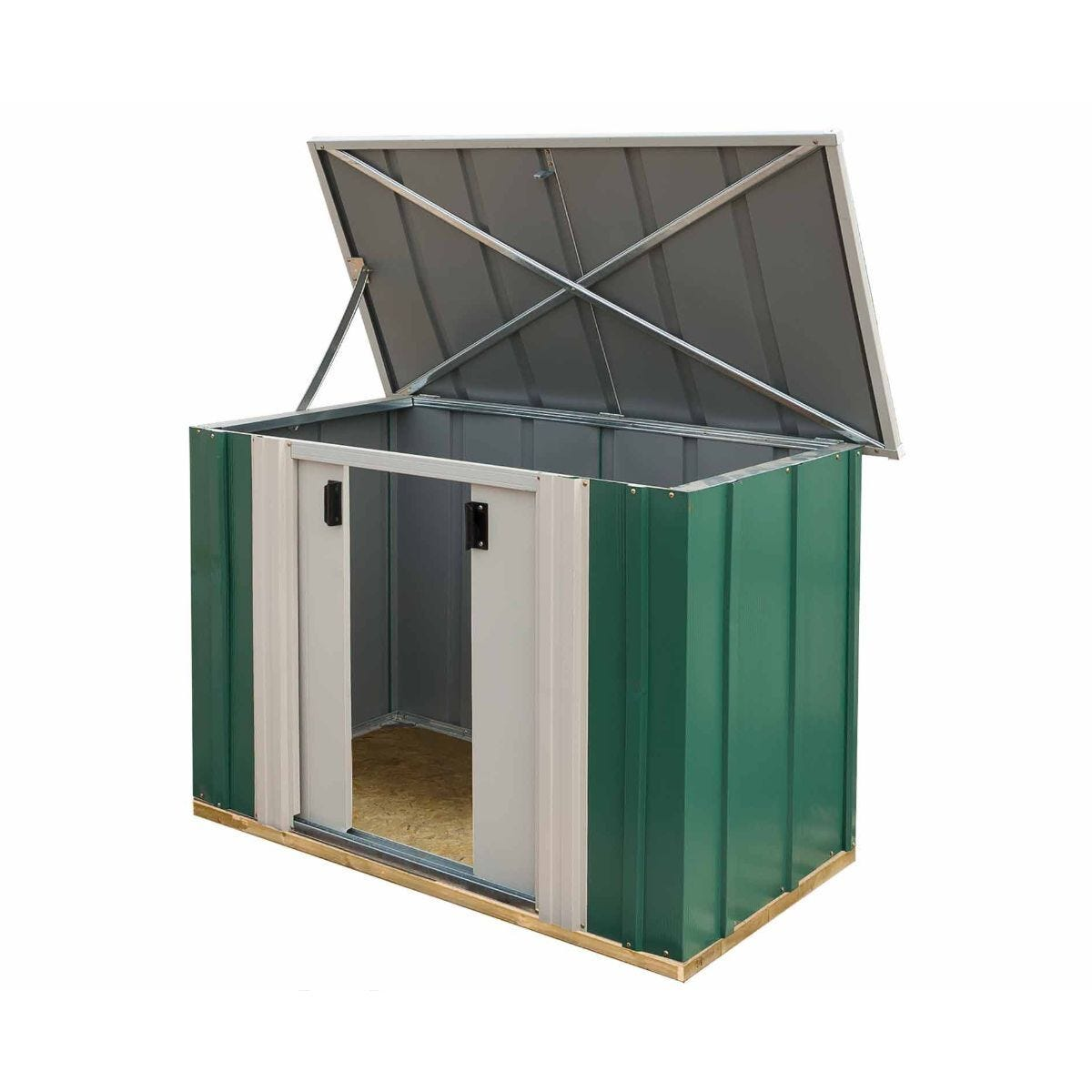 Rowlinson Greenvale Metal Storette with Floor 4ft x 2ft