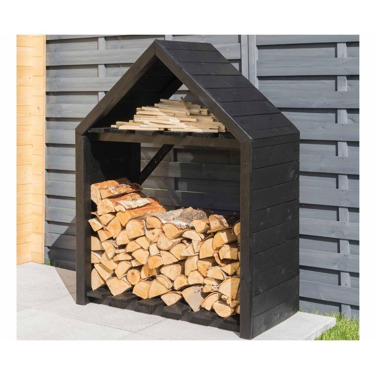 Rowlinson Black Apex Wooden Log Store