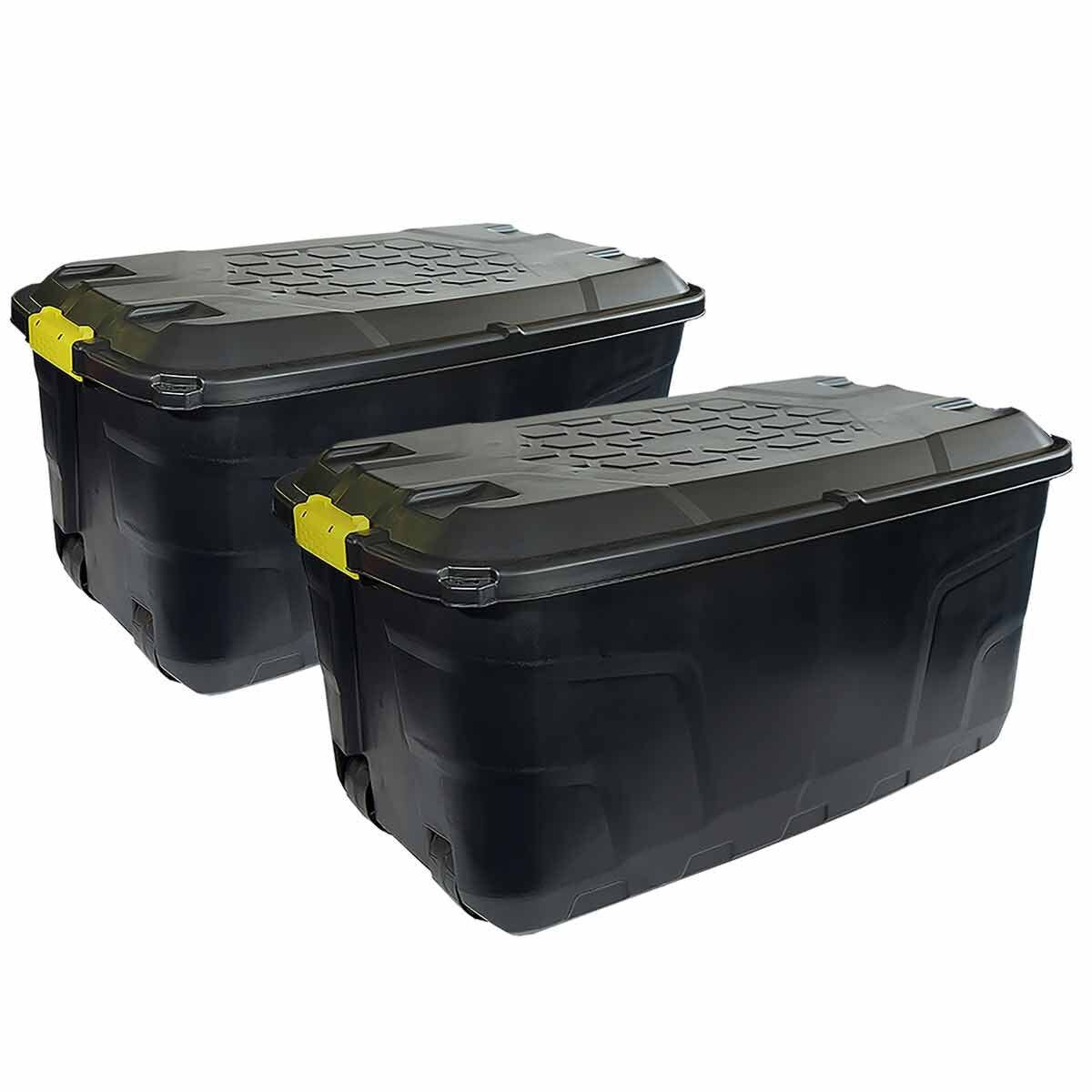 Charles Bentley Strata Heavy Duty Trunk with Wheels 145L Set of 2