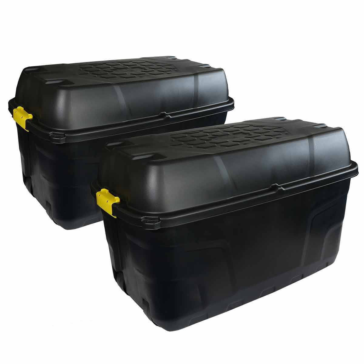 Charles Bentley Strata Heavy Duty Trunk with Wheels 175L Set of 2