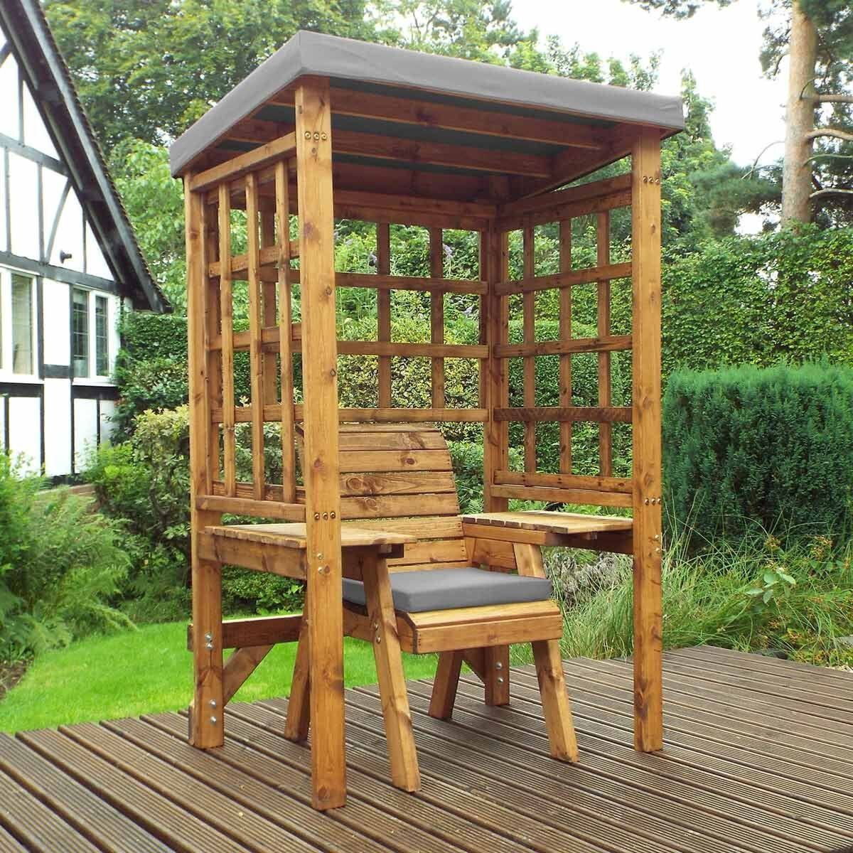 Charles Taylor Wentworth Single Seat Arbour with Cover Grey