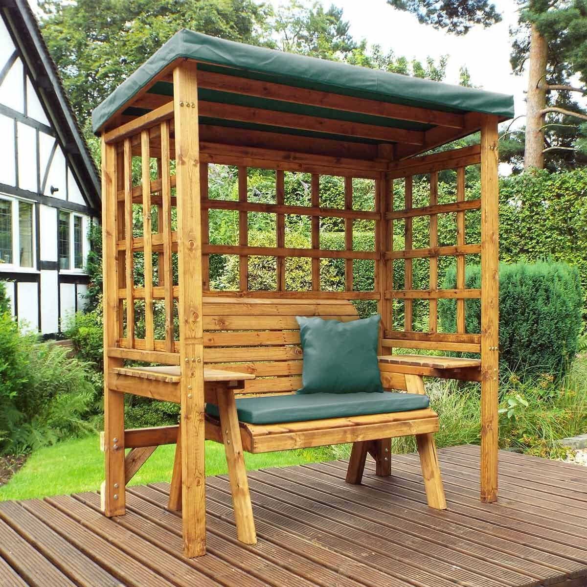 Charles Taylor Wentworth 2 Seat Arbour with Cover Green