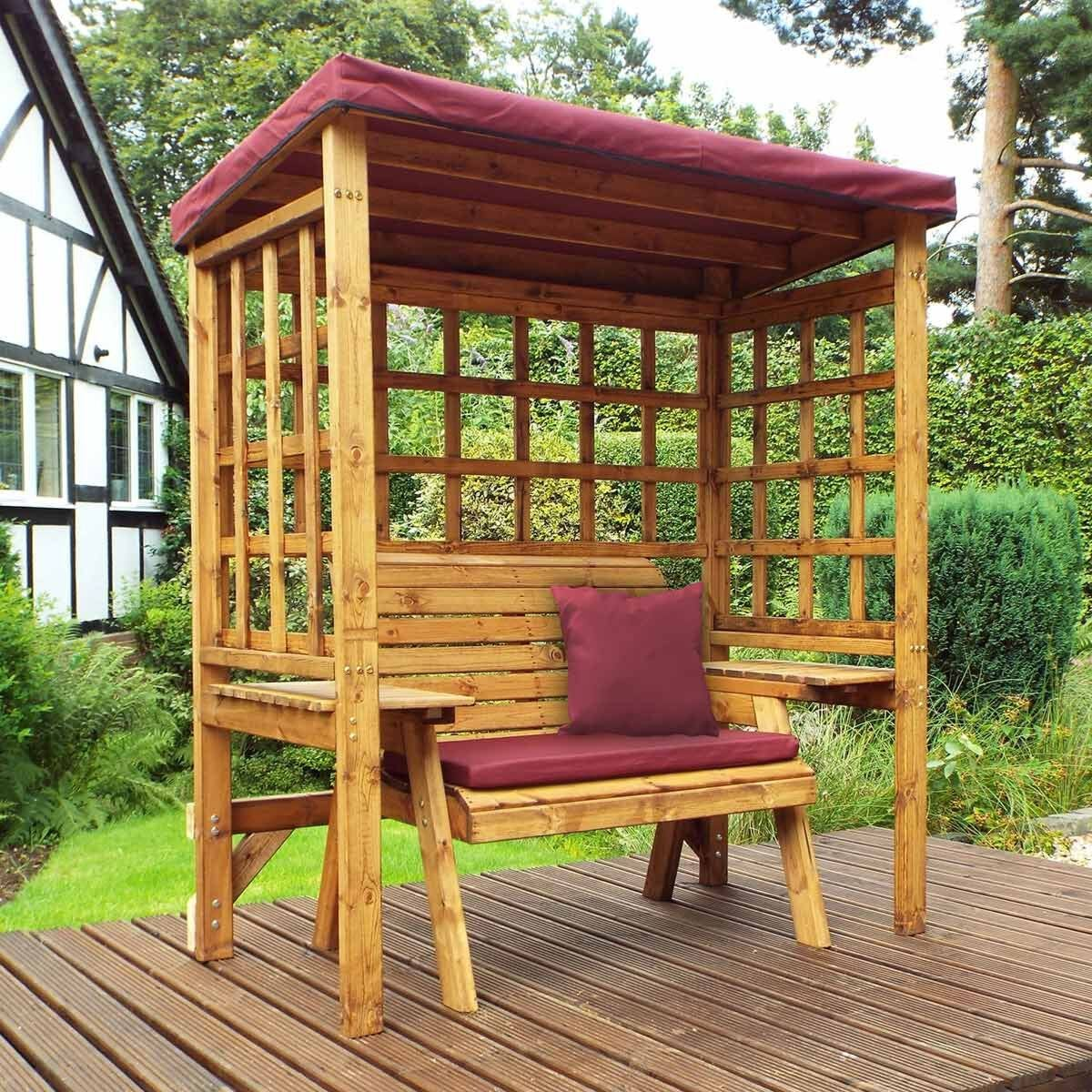 Charles Taylor Wentworth 2 Seat Arbour with Cover Burgundy