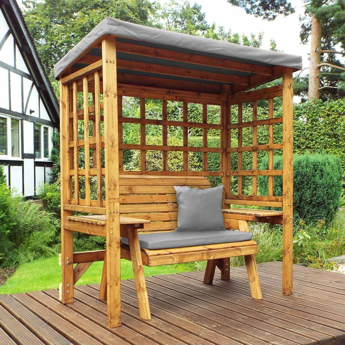 Charles Taylor Wentworth 2 Seat Arbour with Cover Grey