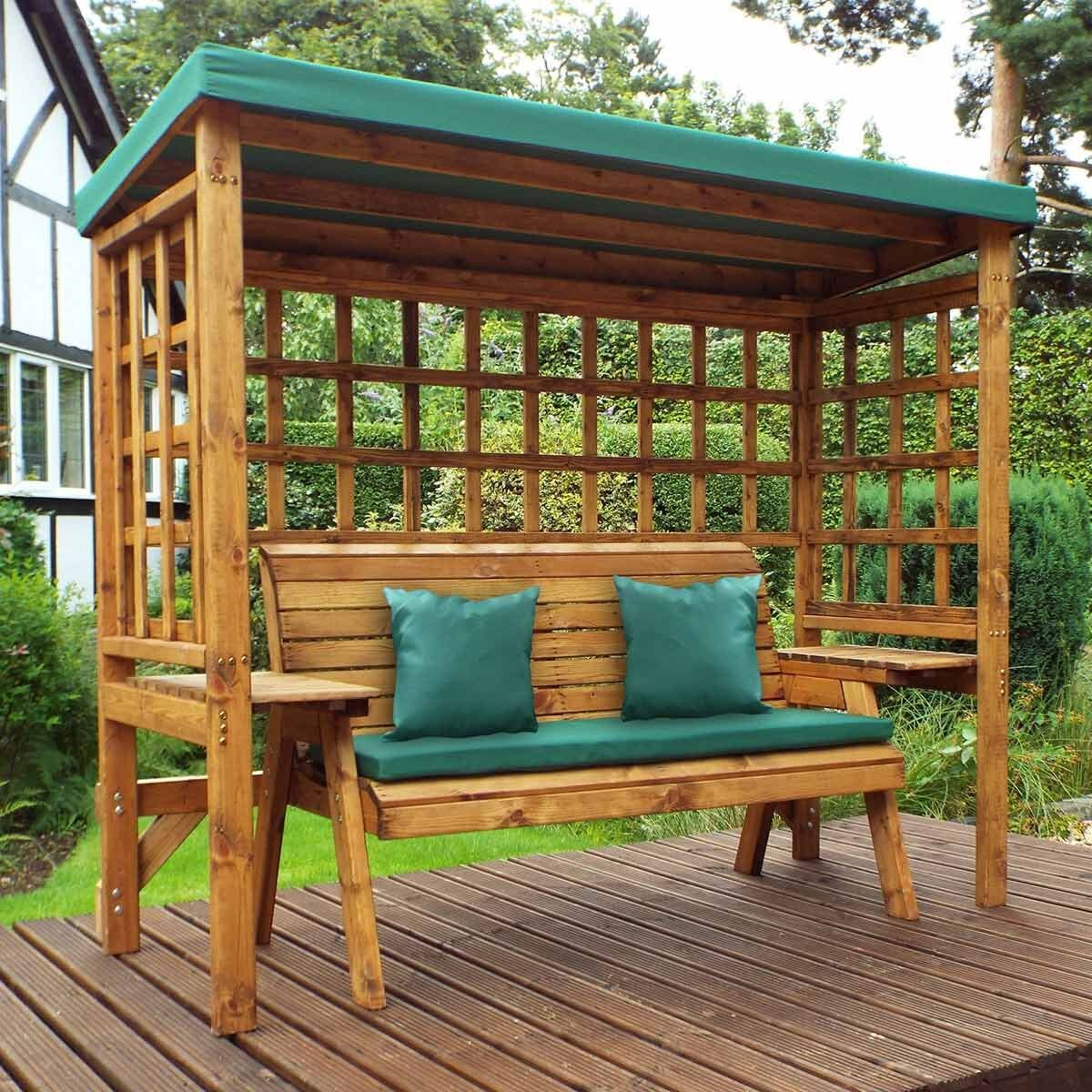 Charles Taylor Wentworth 3 Seat Arbour with Cover Green