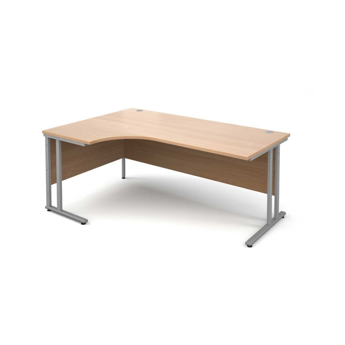 Maestro 25 Left Hand Ergonomic 1800 Desk with Silver Legs