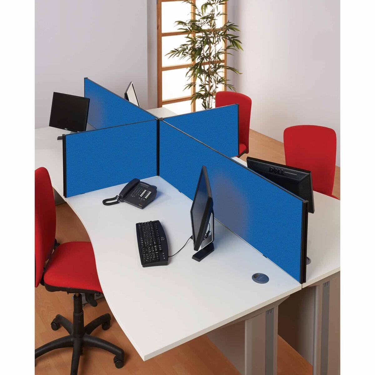 Metroplan BusyScreen Desk Mounted Partition Screen 400 x 1600mm
