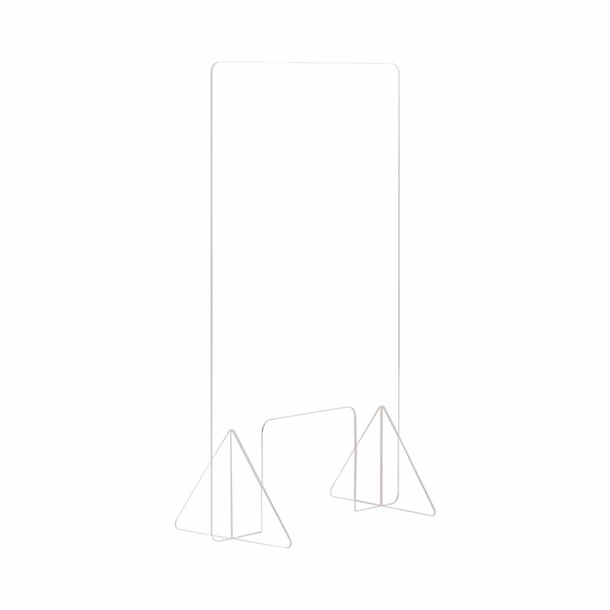 Bi-Office Frameless Counter Protection Screen Acrylic 90x90 cm