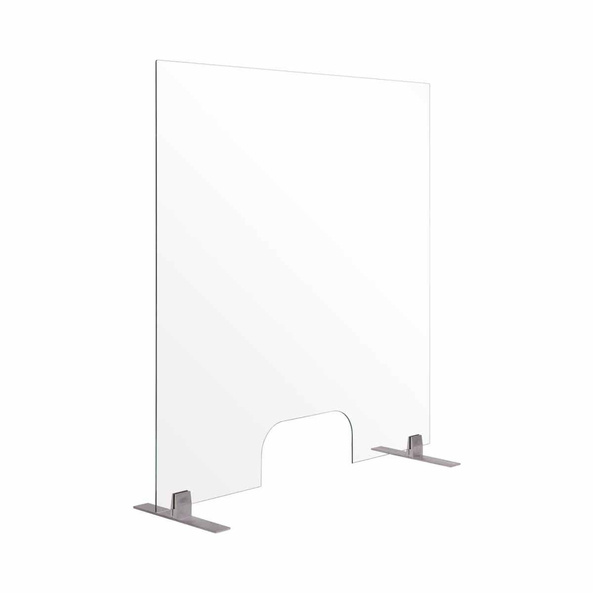 Bi-Office Frameless Counter Protection Screen Glass 120x90 cm