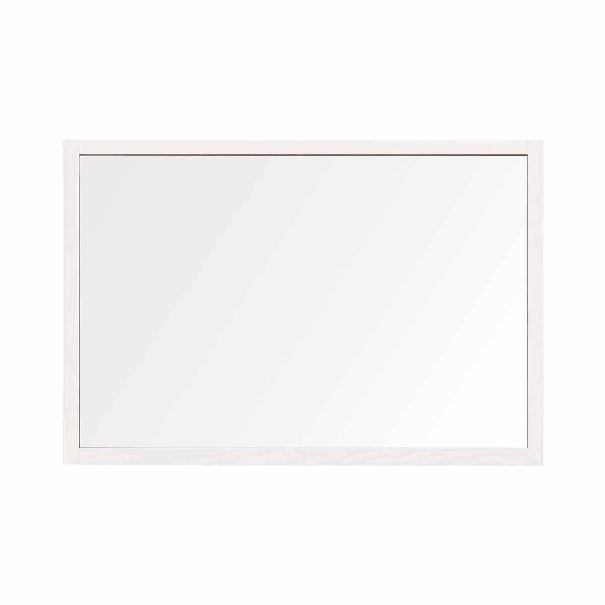 Bi-Office Protector Desktop Glass Board with MDF Frame and Clamps 90x60 cm White