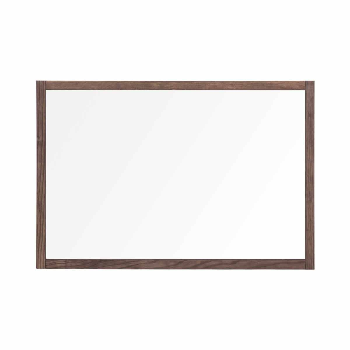 Bi-Office Protector Desktop Glass Board with Rustic Wood Frame and Clamps 104x70 cm