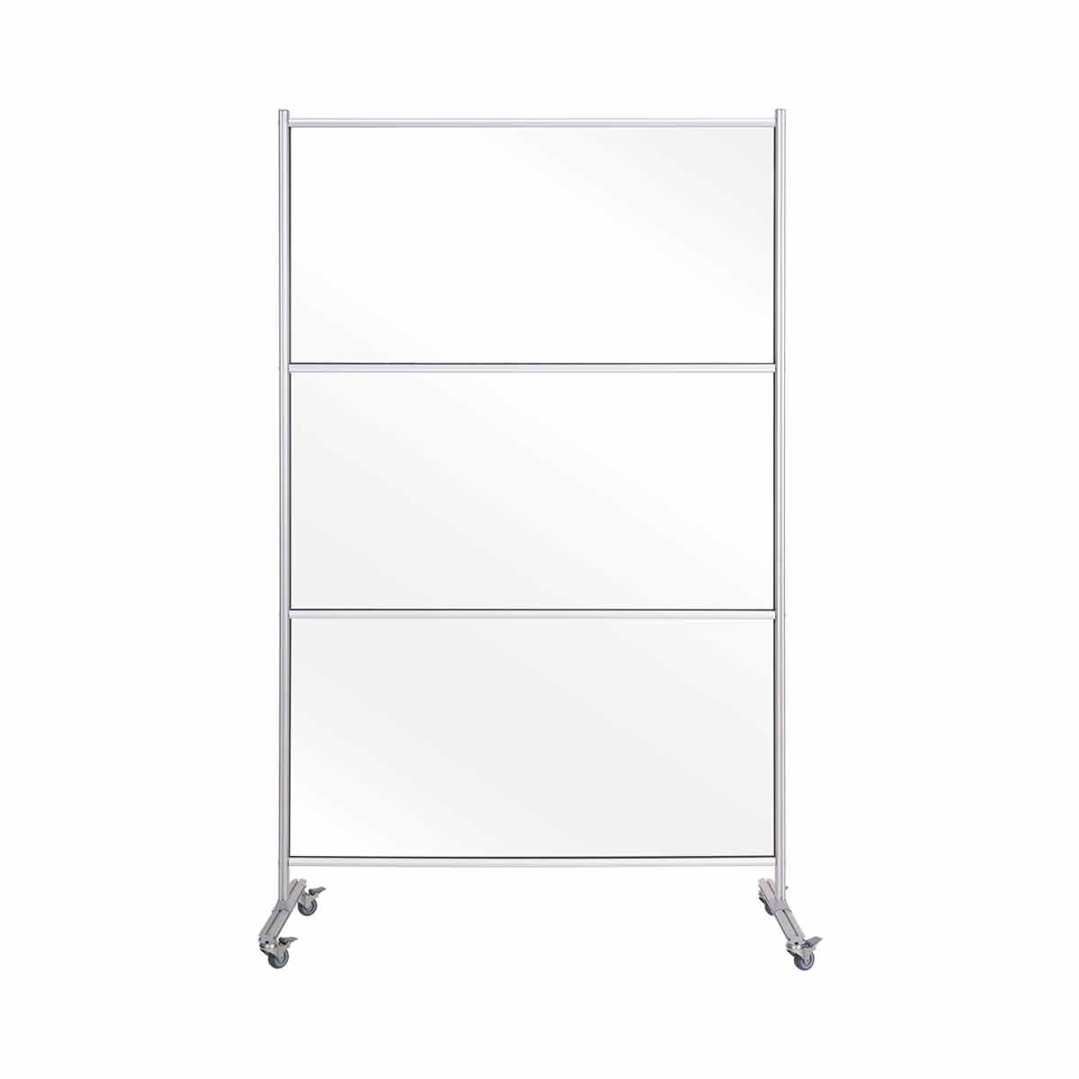 Bi-Office Mobile Stand Glass with Aluminium Frame 120x180 cm