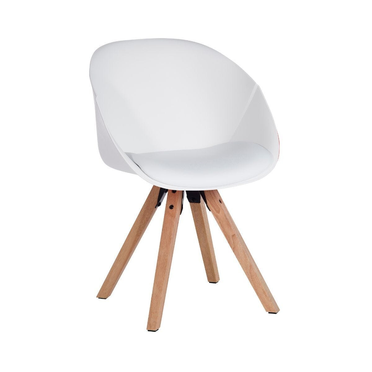 Teknik Office Pyramid Padded Tub Chair Pack of 2 White