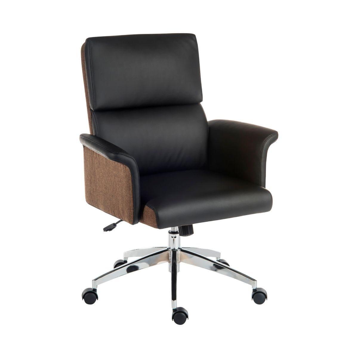 Teknik Office Elegance Medium Back Faux Leather Chair Black