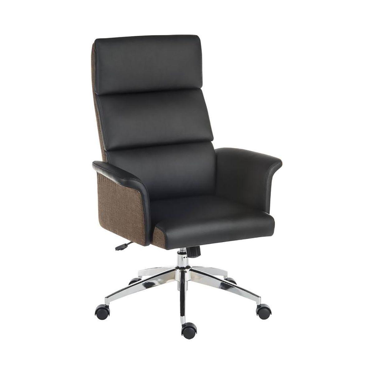 Teknik Office Elegance High Back Faux Leather Executive Chair Black