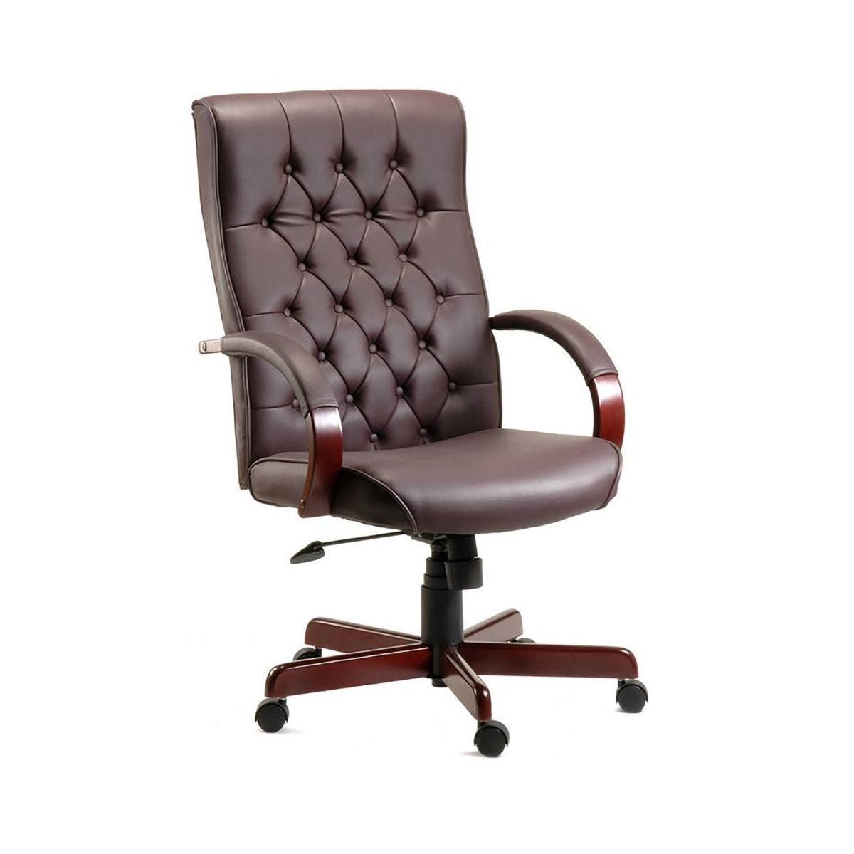 Teknik Office Warwick Traditional Executive Chair Bonded Leather Burgundy