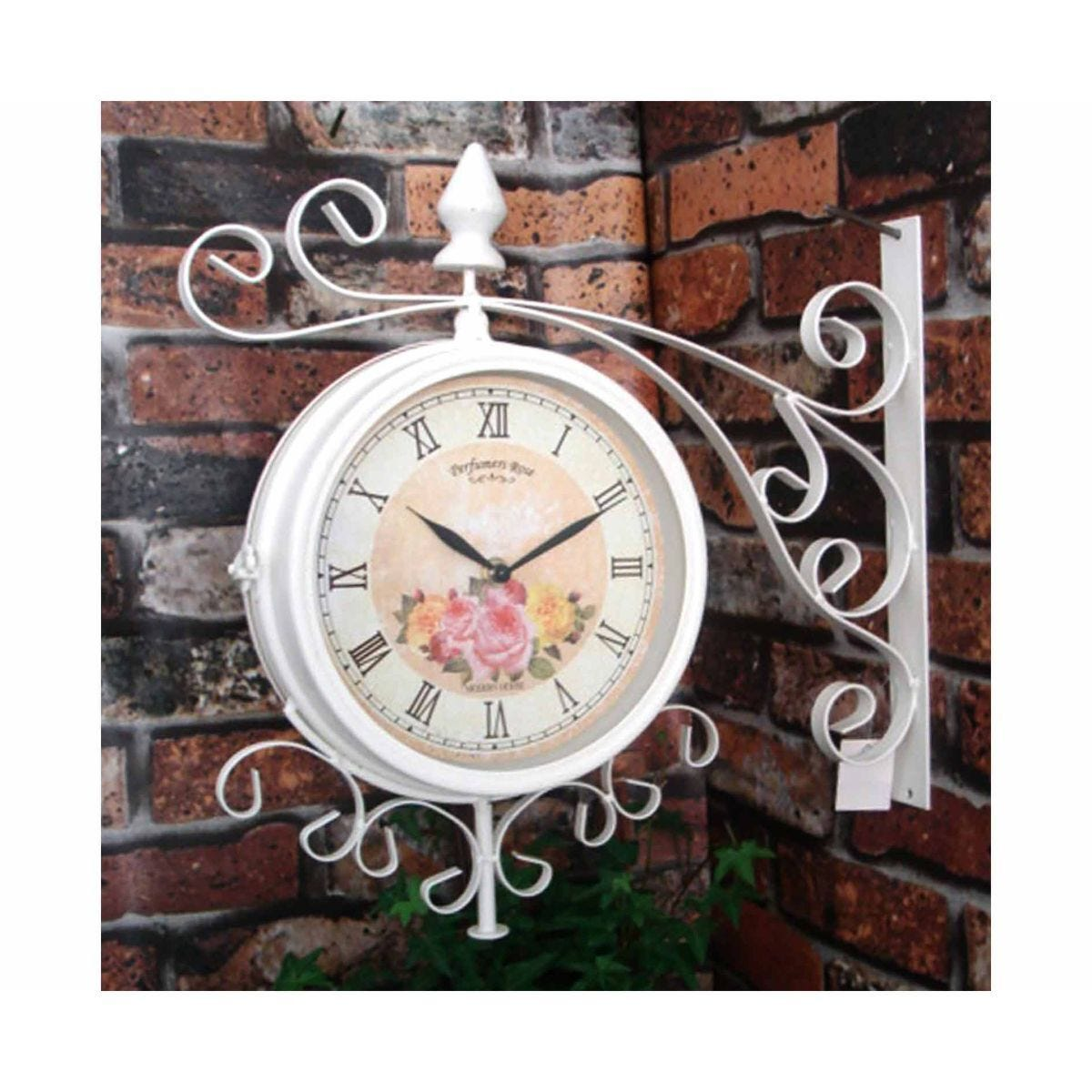 Charles Bentley Vintage Metal Bracket Wall Clock