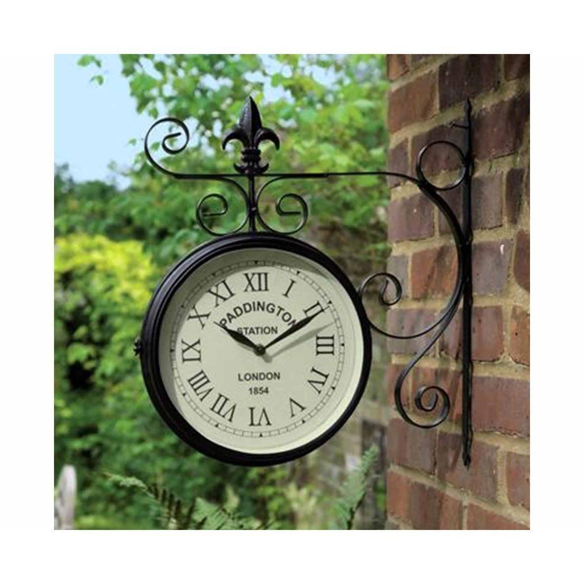 Charles Bentley Paddington Metal Bracket Wall Clock