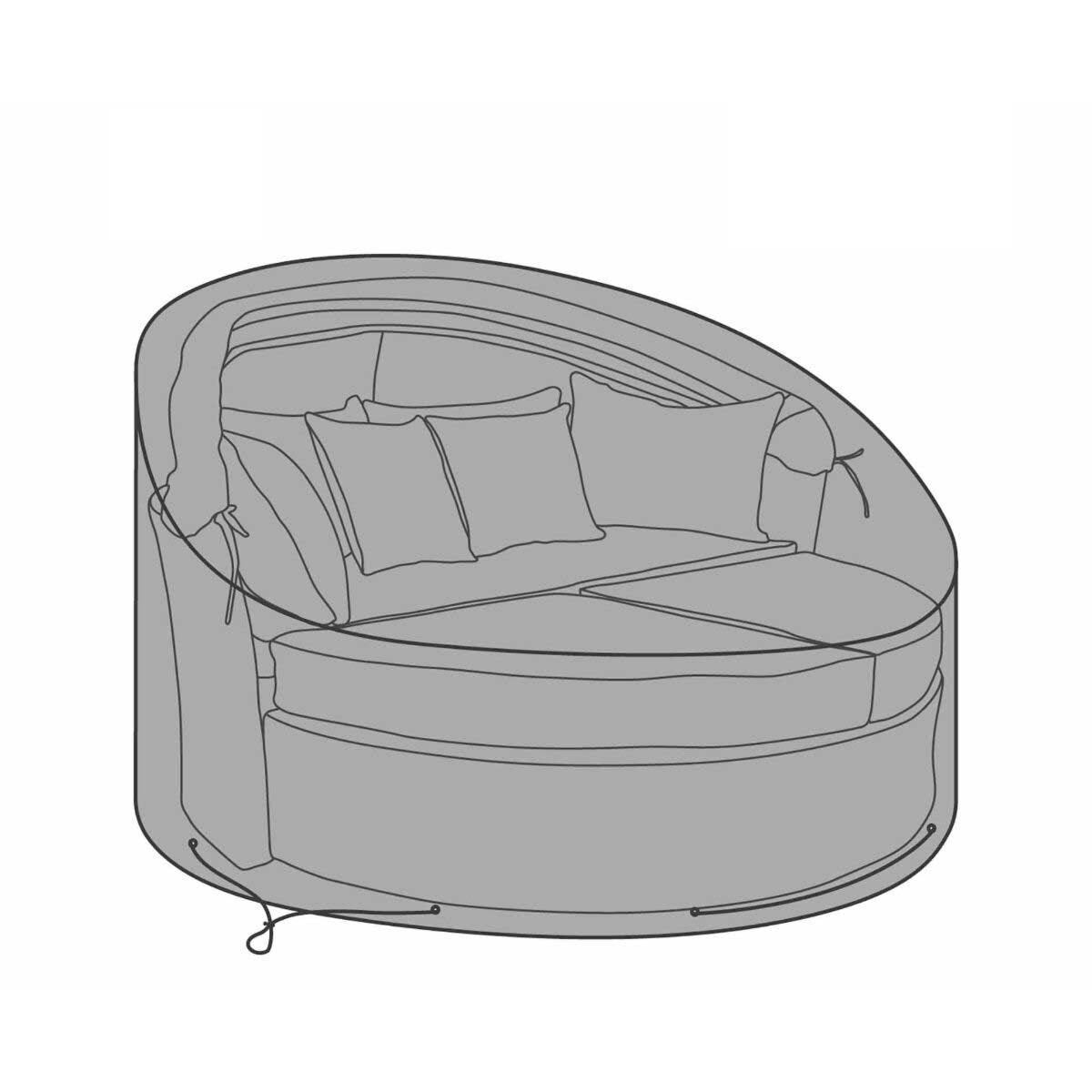 Charles Bentley Rattan Day Bed Deluxe Garden Furniture Cover