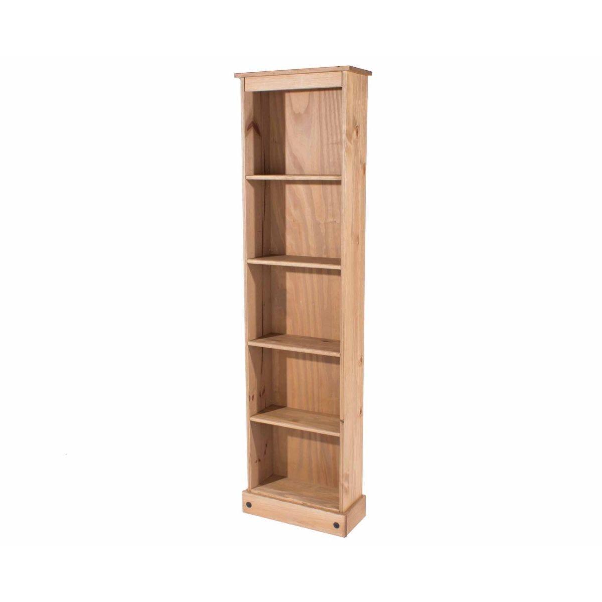 Corona Antique Wax Tall Narrow Bookcase