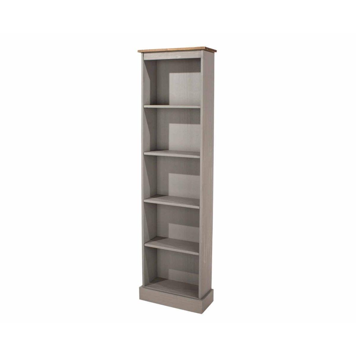 Corona Grey Tall Narrow Bookcase