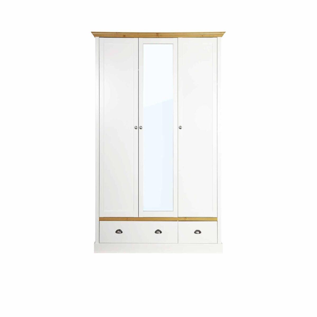 Steens Sandringham 3 Door 2 Drawer Mirrored Wardrobe