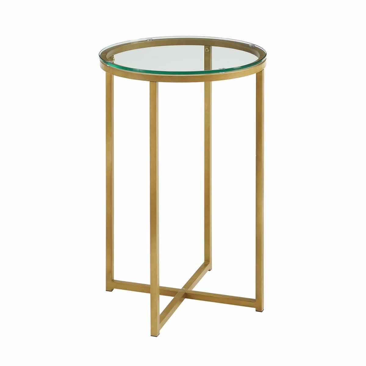 Vigo Glam Round Side Table Gold