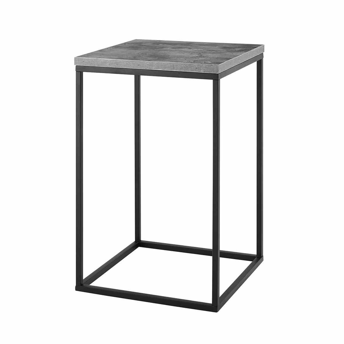Huelva Modern Square Side Table Grey