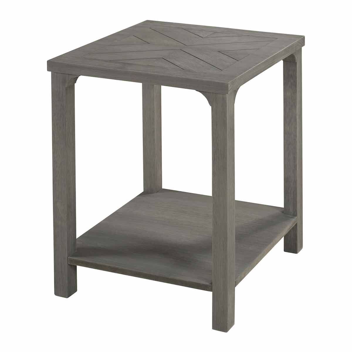 Leon Wood Side Table Grey