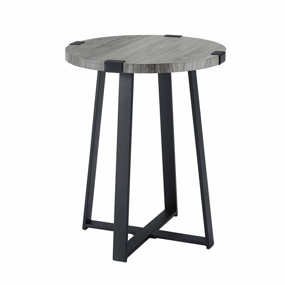 Albacete Rustic Side Table Grey
