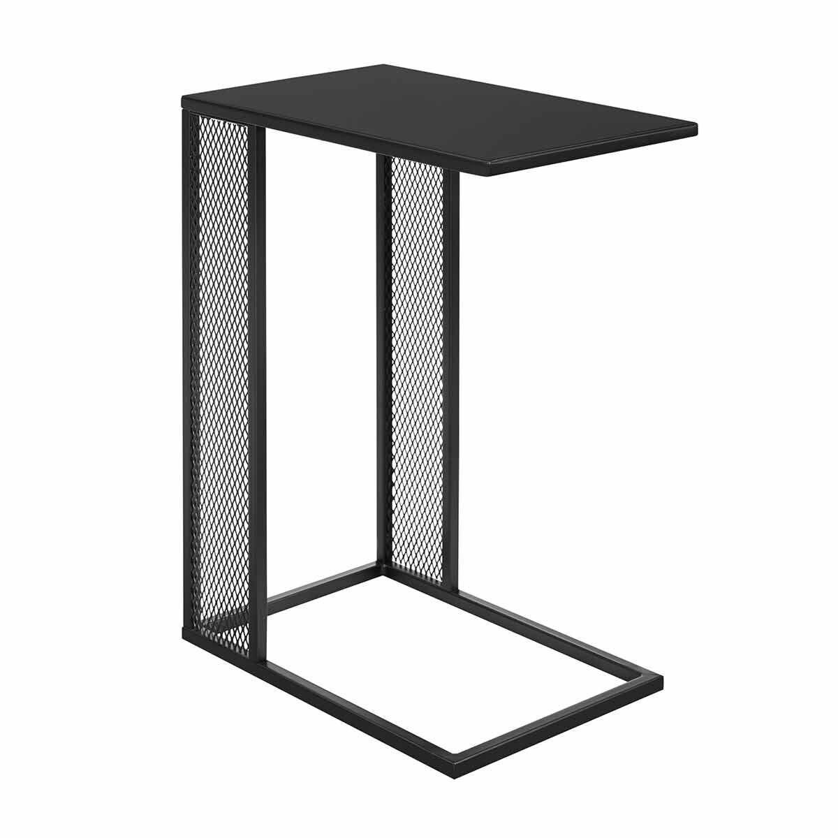 Seville Rectangle Metal Mesh C-Table Black