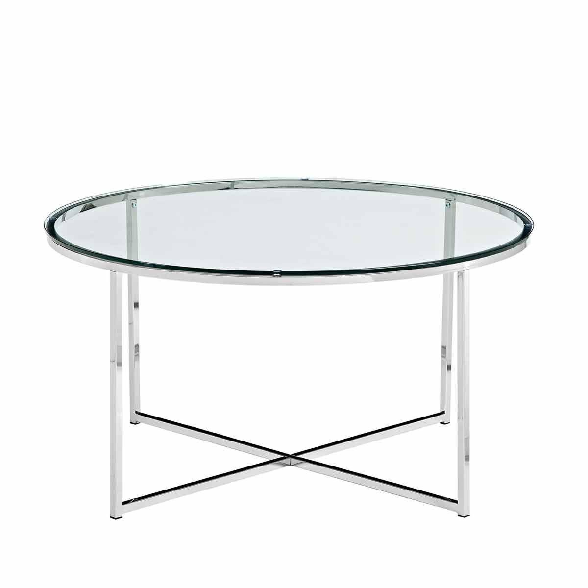 Zaragoza Mid Century Modern Round Coffee Table