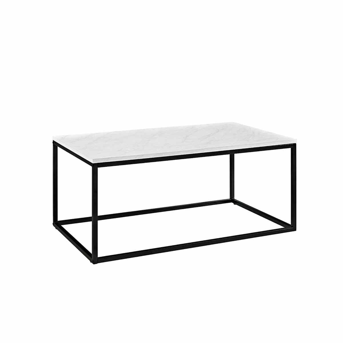 Girona Industrial Coffee Table White Marble