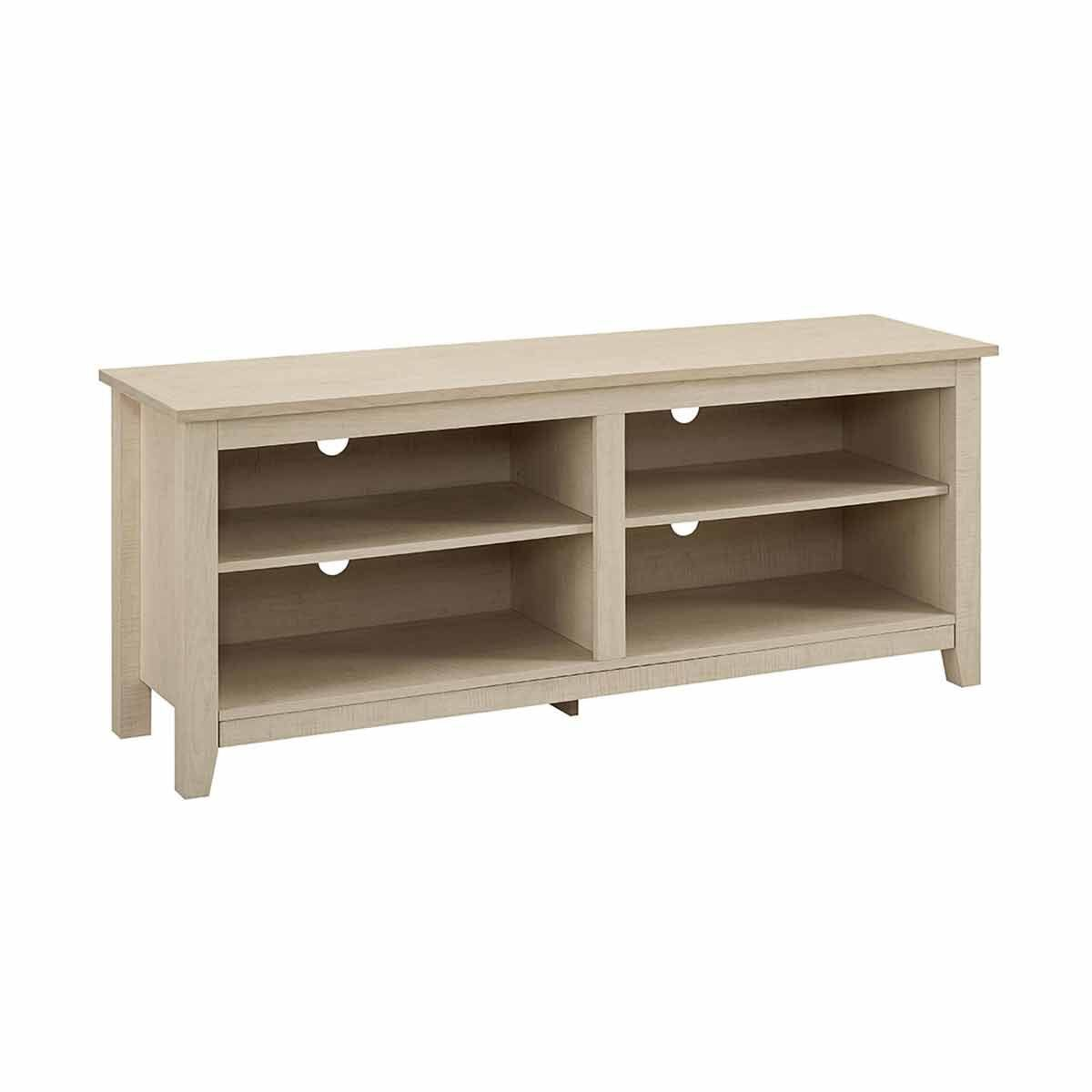 Pineda TV Stand with Open Shelving Maple