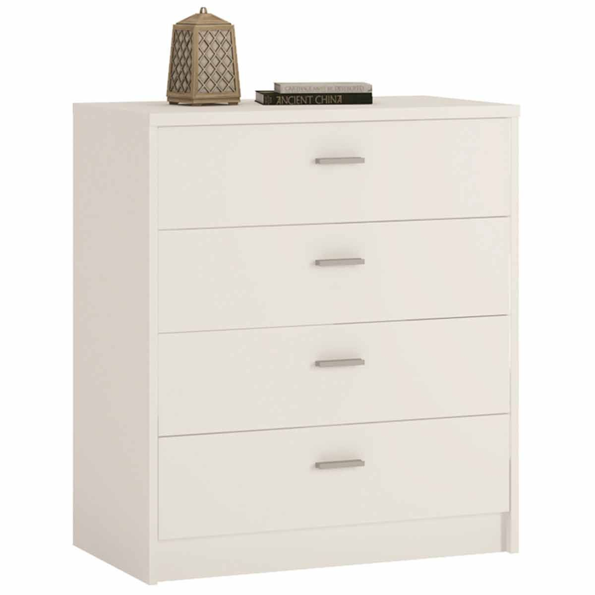 Belgravia 4 Drawer Chest of Drawers Pearl White
