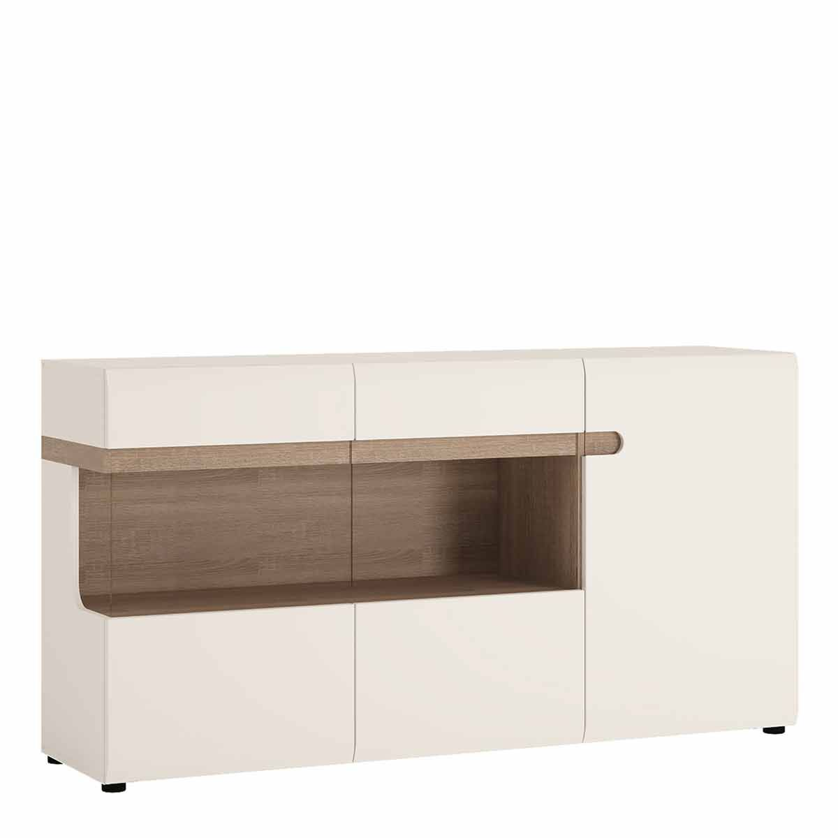 Chelsea Living 3 Door Glazed Sideboard