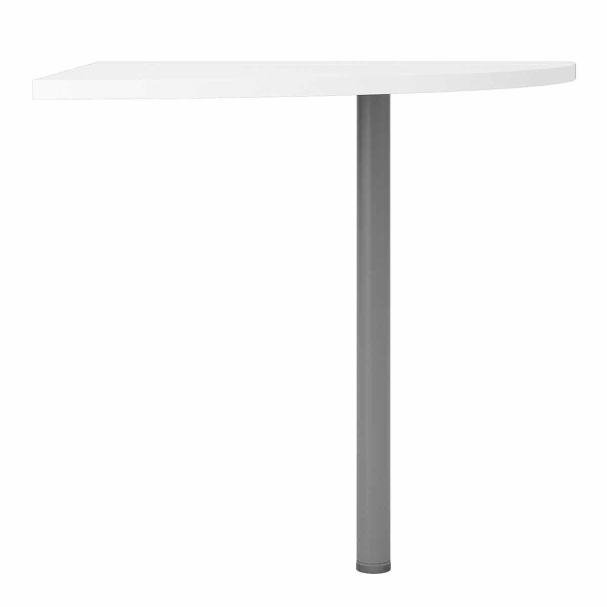 Prima Corner Desk Top with Silver Leg