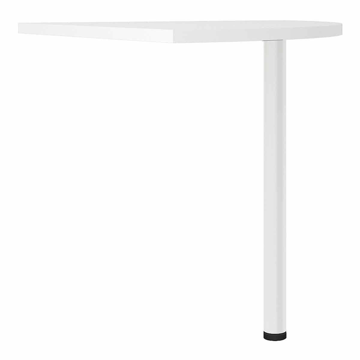 Prima Corner Desk Top with White Leg