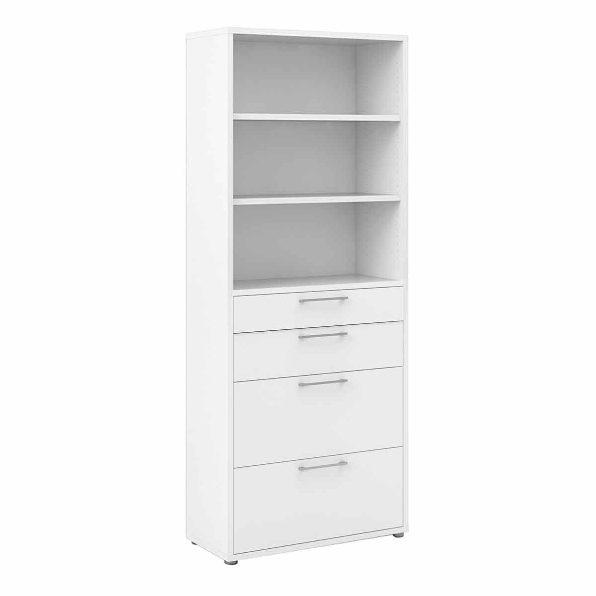 Prima Bookcase with 5 Shelves and 2 File Drawers
