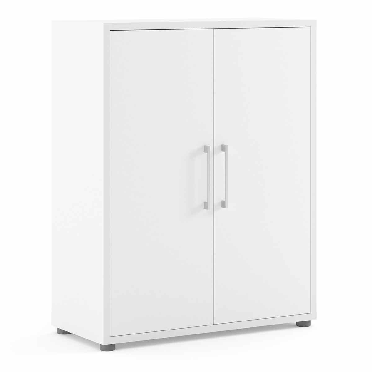 Prima Bookcase with 2 Shelves and 2 Doors White