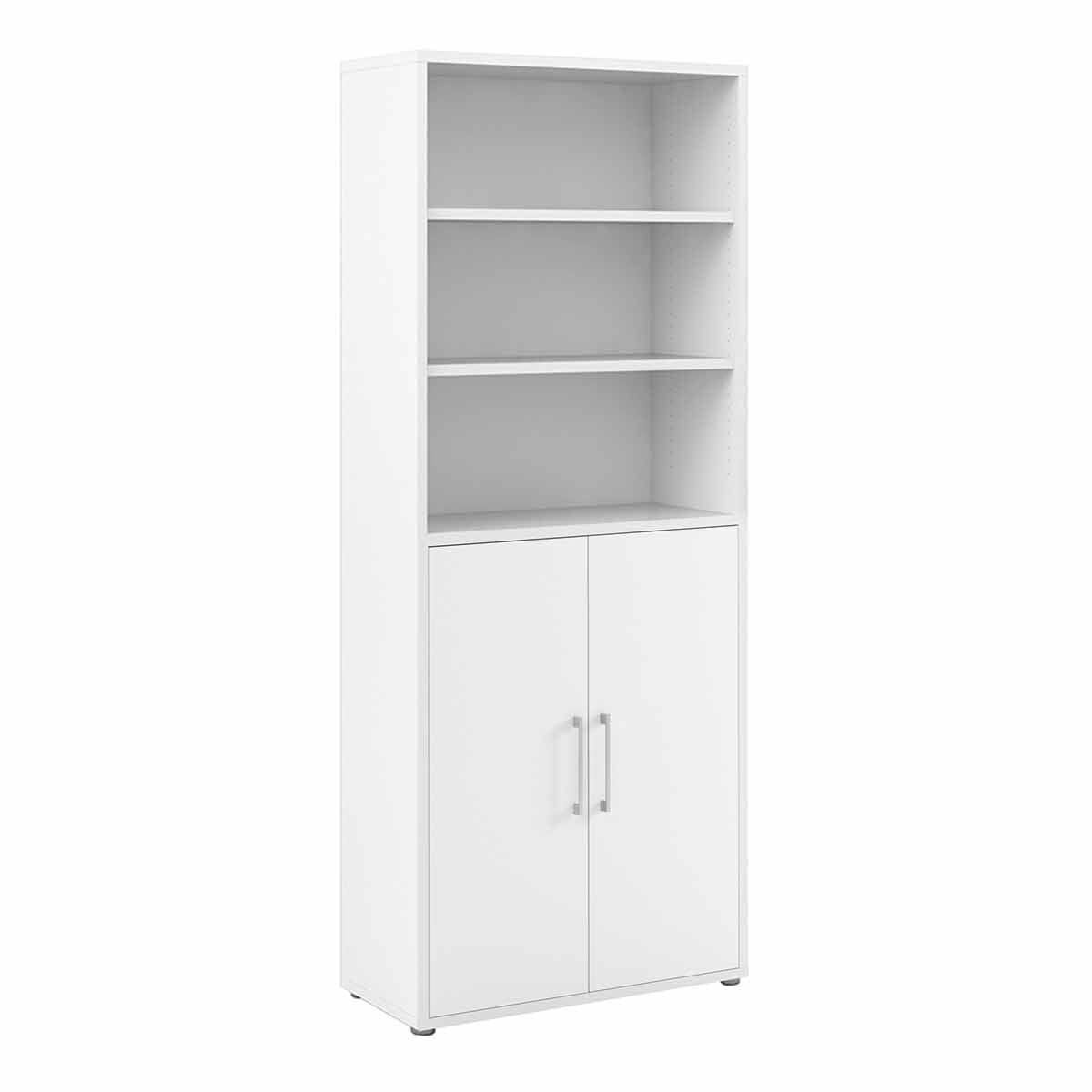 Prima Bookcase with 5 Shelves and 2 Doors