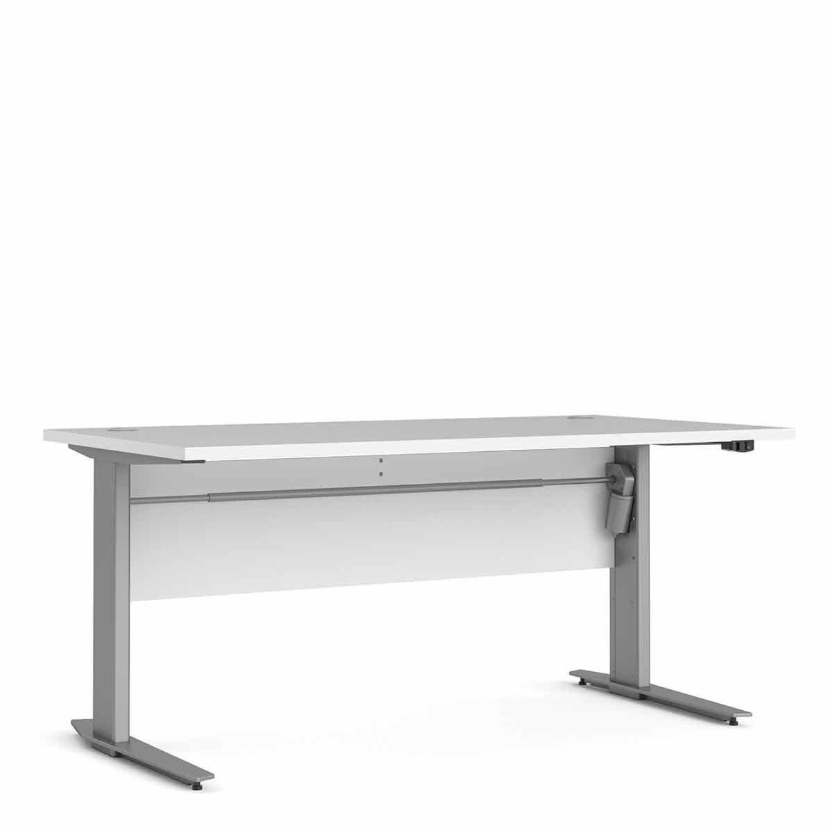 Prima Desk with Height Adjustable Silver Legs 150cm