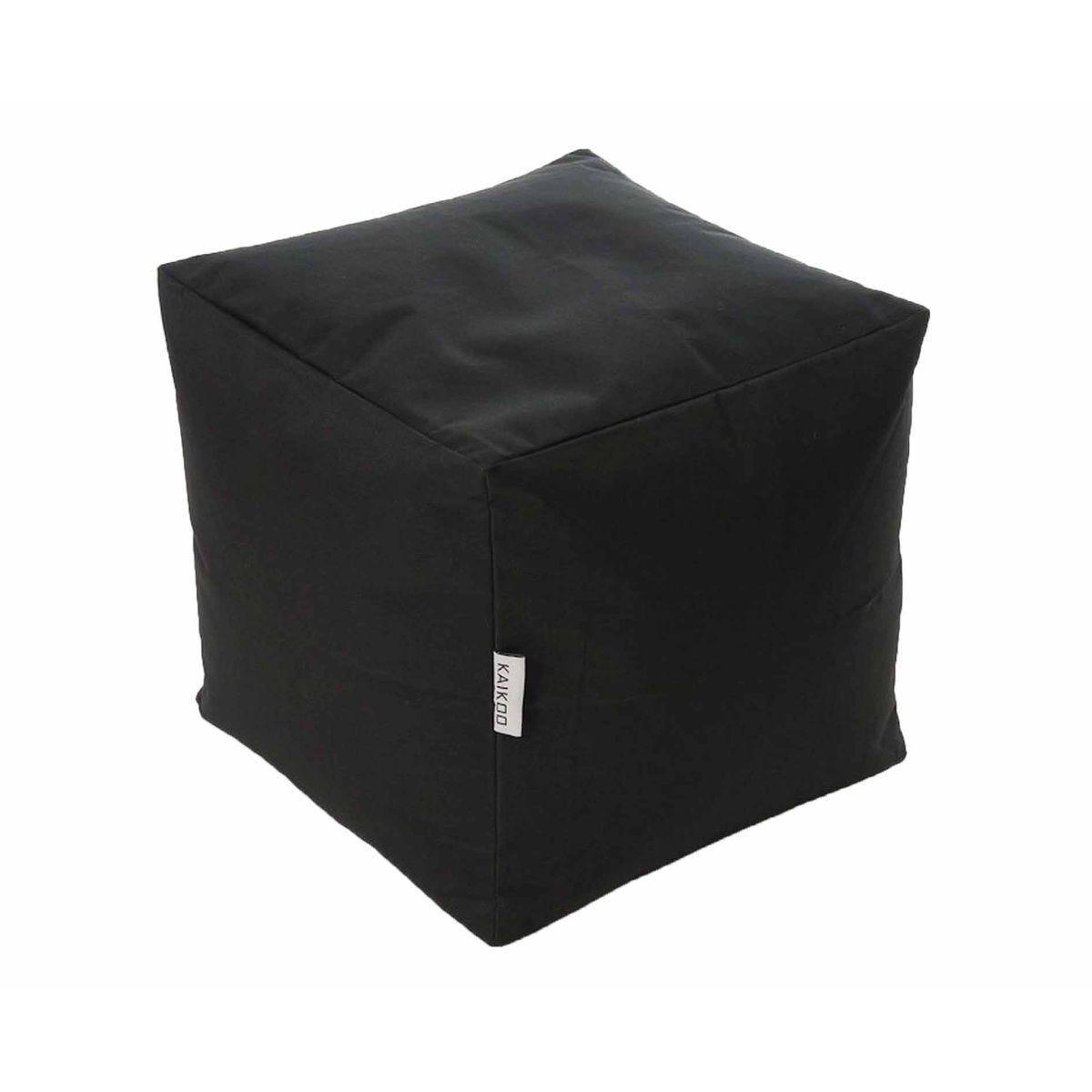 Kaikoo Kids Cube Beanbag Black