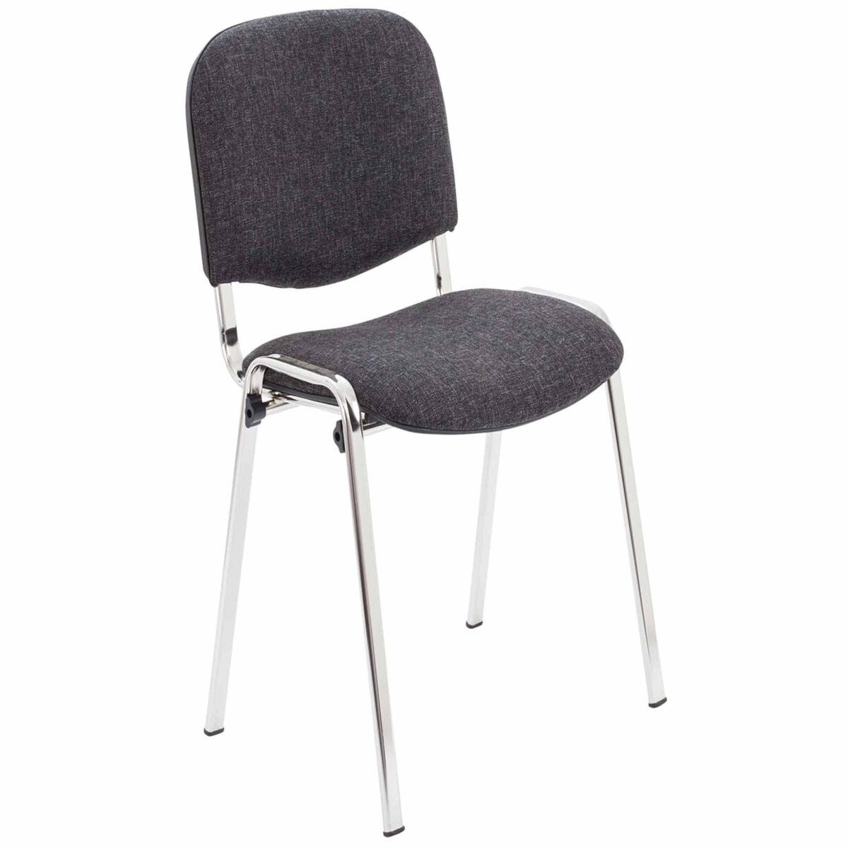 TC Office Club Stacking Meeting Chair with Chrome Frame