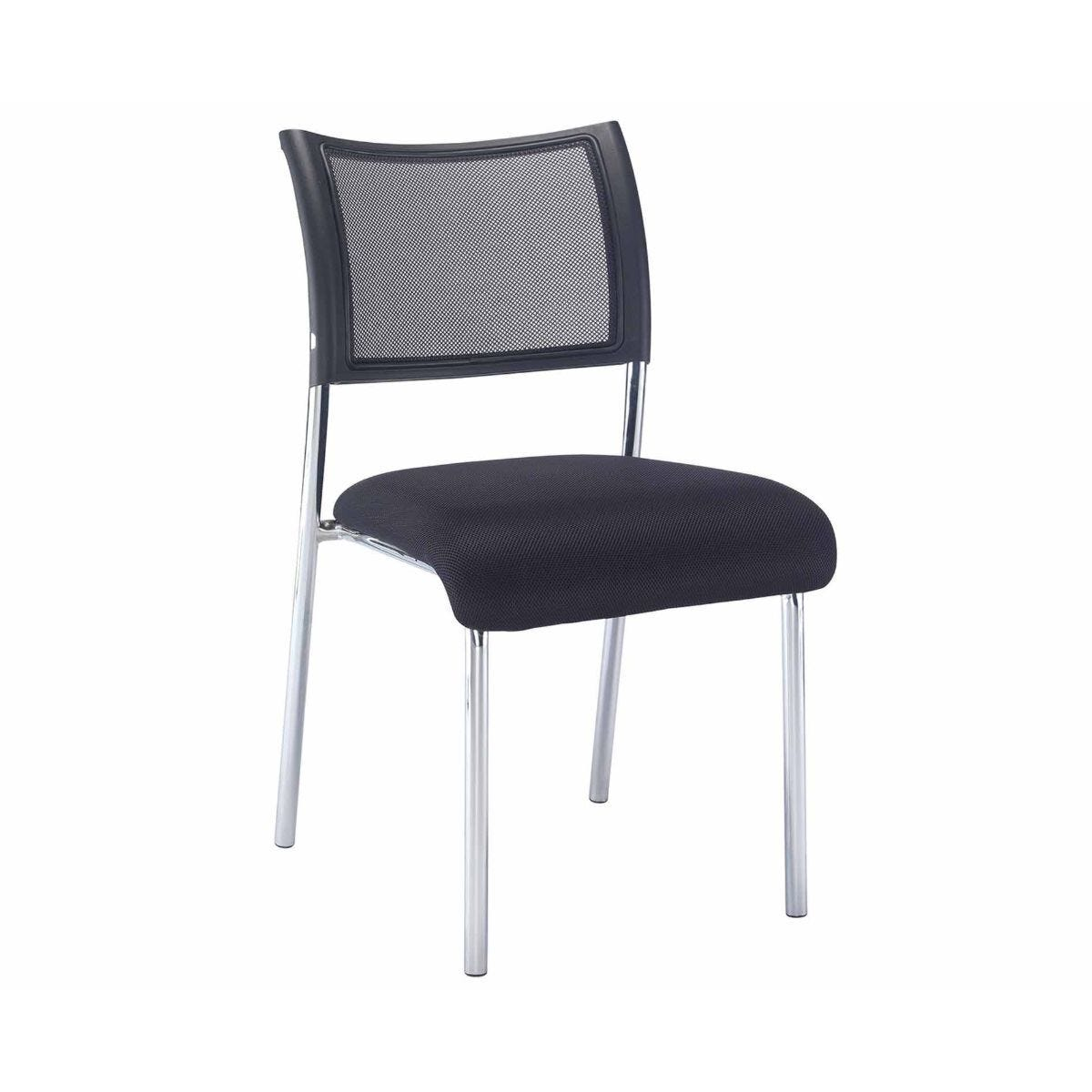 TC Office Jupiter Mesh Back Conference Chair with Chrome Frame
