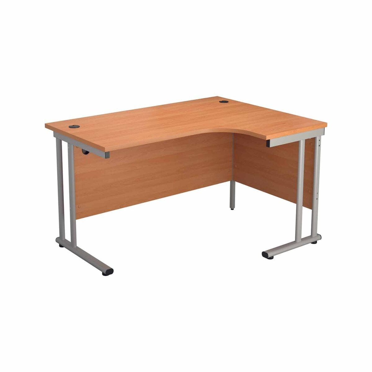 TC Office Start Silver Cantilever Frame Right Hand Crescent Desk 1800x1200mm