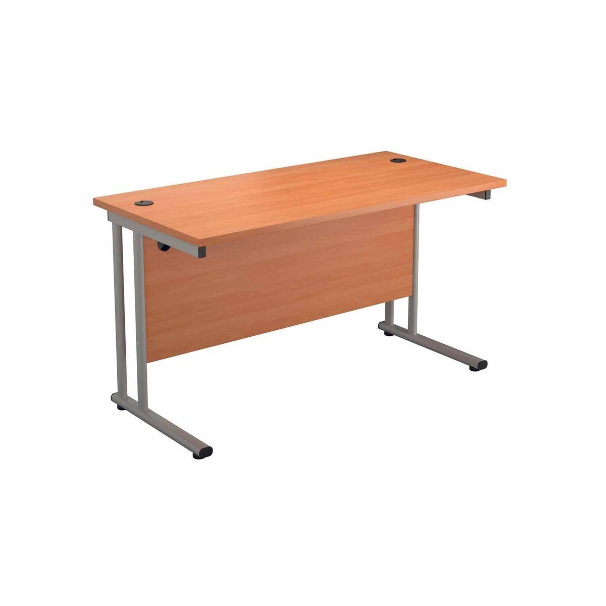 TC Office Start Silver Cantilever Frame Desk 1400x800mm