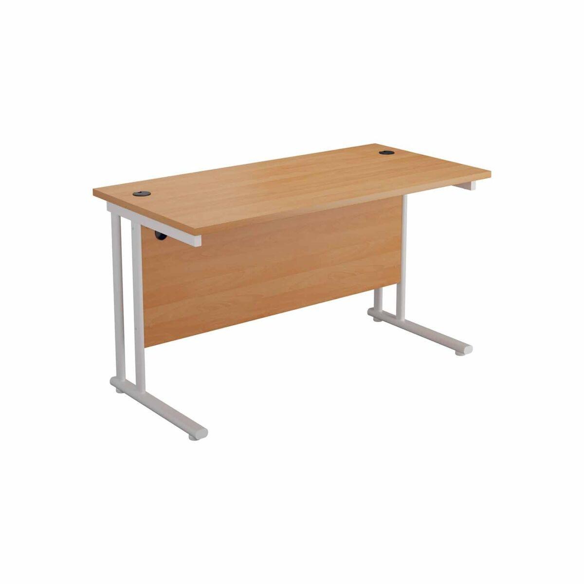 TC Office Start White Cantilever Frame Desk 1600x800mm